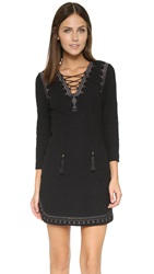 Twelfth St. By Cynthia Vincent Lace Up Mini Dress Black