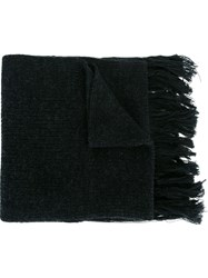 Lanvin Knitted Scarf Grey