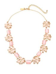 Kate Spade Blushing Blooms Crystal Collar Necklace Pink