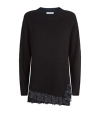 Sandro Blake Lace Trim Jumper Female Black