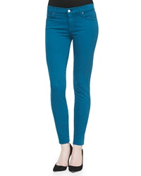 7 For All Mankind Slim Illusion Pdf Brights Skinny Jeans Nautical Teal