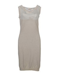 Lupattelli 3 4 Length Dresses Dove Grey