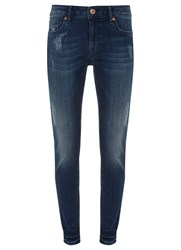 Mint Velvet Delaware Distressed Skinny Jean Blue