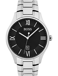 Boss 1513488 Governor Steel Watch Silver Black