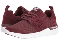 Supra Scissor Burgundy Suede White Women's Skate Shoes