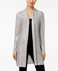 Alfani Petite Sequin Duster Cardigan Only At Macy's Silver Stream