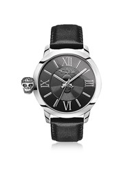 Thomas Sabo Men's Watches Rebel With Karma Silver Stainless Steel And Black Leather Strap Men's Watch