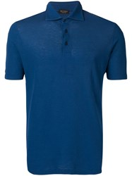 Dell'oglio Slim Fit Polo Shirt Blue