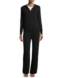 Neiman Marcus Cashmere Hoodie And Pant Lounge Set Red