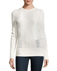 J Brand Sweetszer Silk Cotton Sweater Ivory