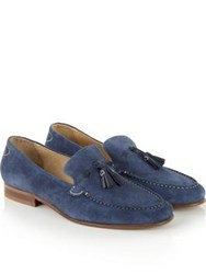 Hudson Bernini Suede Loafers Navy