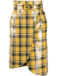 Ganni High Waisted Check Wrap Skirt 60