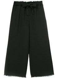 Astraet Tailored Cropped Trousers Black