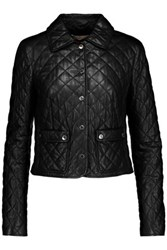 Michael Kors Collection Plong Quilted Leather Jacket Black