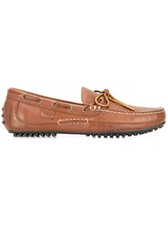 Polo Ralph Lauren Classic Boat Shoes Brown