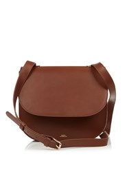 A.P.C. Christie Leather Cross Body Bag Brown