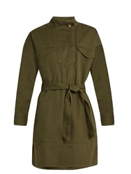 Etoile Isabel Marant Omeo Cotton Gabardine Tunic Dress Khaki