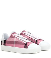 Burberry Westford Canvas Sneakers Pink