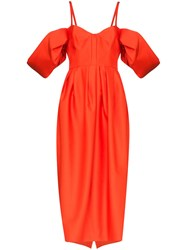 Rosie Assoulin Puff Sleeve Midi Dress 60