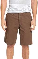 Original Paperbacks Men's 'St. Barts' Raw Edge Shorts Java