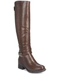 Rampage Imelda Tall Shaft Riding Boots Women's Shoes Brown