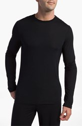 Men's Calvin Klein 'U1139' Micromodal Long Sleeve T Shirt Black