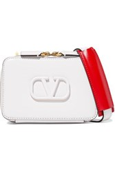 Valentino Garavani Vsling Small Leather Shoulder Bag White
