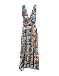 Compagnia Italiana Long Dresses Blue