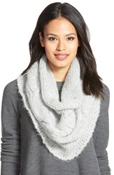 Eileen Fisher Cable Knit Alpaca Blend Infinity Scarf Pearl