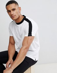New Look Ringer T Shirt With Sleeve Stripe In White