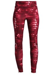 Adidas Performance Tights Maroon Dark Purple