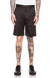 Acne Studios Adrian Cotton Blend Short In Black