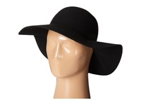 Scala Wool Felt Big Brim Hat Black Caps