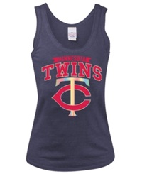5Th And Ocean Womens' Minnesota Twins Iridescent Foil Tank Navy