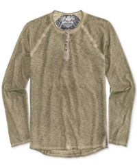 American Rag Men's Raw Edge Spring Henley Only At Macy's Calm Sage