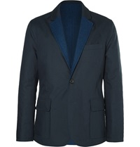 Hardy Amies Reversible Cotton Jacket Blue