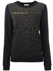 Versace Jeans Studded Detail Sweatshirt Black