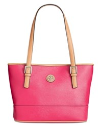 Giani Bernini Saffiano Tote Created For Macy's Raspberry