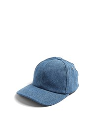 Ami Alexandre Mattiussi Logo Embroidered Denim Cap Light Blue
