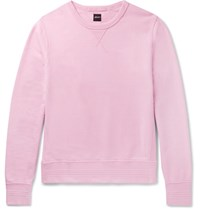 Albam Garment Dyed Loopback Cotton Jersey Sweatshirt Pink