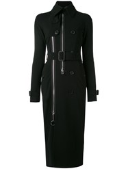 Givenchy Belted Slim Fit Trench Coat Women Silk Elastodiene Polyamide Viscose 36 Black
