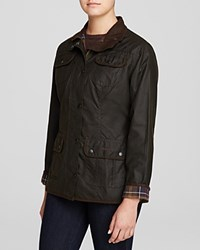 Barbour Waxed Cotton Utility Jacket Olive