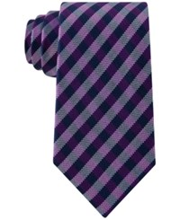 Club Room Men's Gingham Tie Only At Macy's Purple