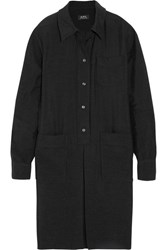 A.P.C. Atelier De Production Et De Creation Megan Slub Jersey Shirt Dress Black