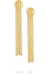 Arme De L'amour Fringed Gold Plated Earrings