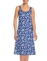 Lord And Taylor Plus Floral Nightgown Ocean White