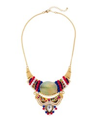 Fragments For Neiman Marcus Beaded Statement Bib Necklace Multi