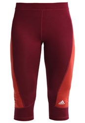 Adidas Performance Tights Maroon Mystery Red