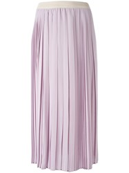 Agnona Pleated Skirt Pink Purple