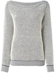 Max Mara Boat Neck Jumper White